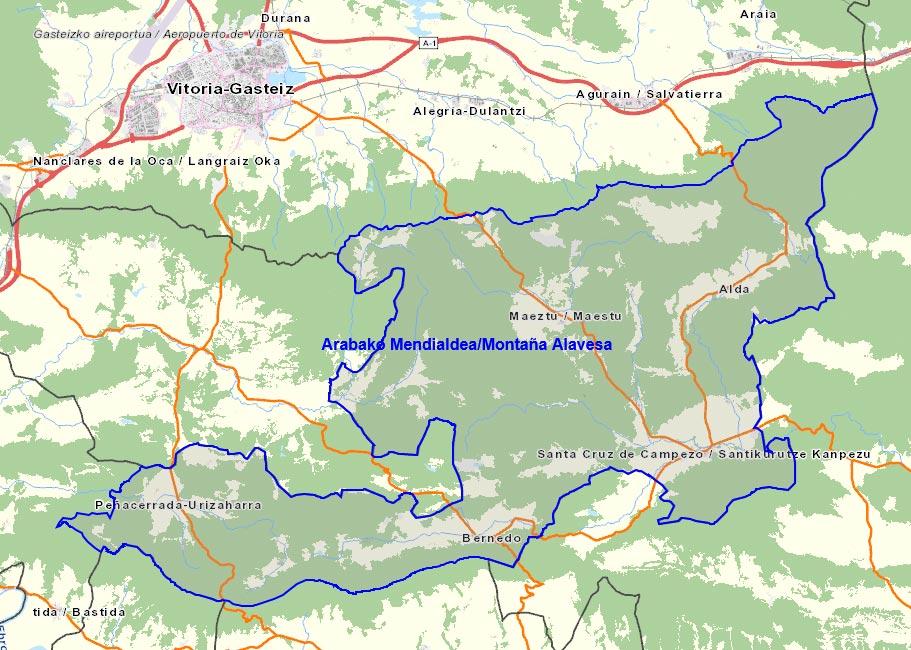 Mapa Montaña Alavesa
