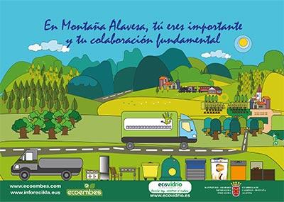 En Montaña Alavesa, tú eres importante y tu colaboración fundamental. ¡Recicla!
