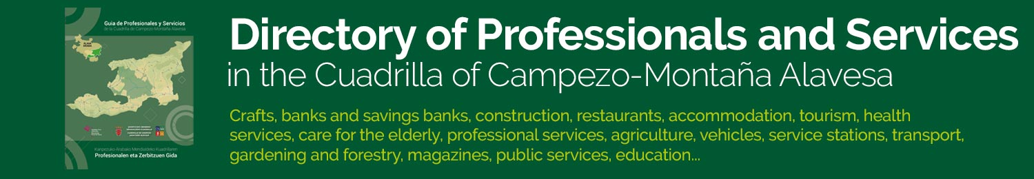 Directory of Professionals and Services in the Cuadrilla of Campezo-Montaña Alavesa