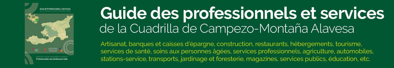 Guide des professionnels et services de la Cuadrilla de Campezo-Montaña Alavesa